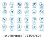 winter sports icons set  vector ... | Shutterstock .eps vector #715047607