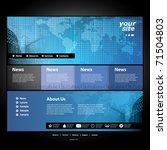website template   Shutterstock .eps vector #71504803