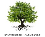tree with a realistic | Shutterstock .eps vector #715051465