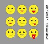emoticons set design | Shutterstock .eps vector #715052185