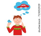 vector illustration of smiling... | Shutterstock .eps vector #715052929