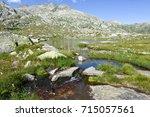 mountain landscape of gotthard...   Shutterstock . vector #715057561