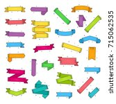 vector set different colorful... | Shutterstock .eps vector #715062535