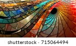 Colorful Stained Glass Spiral ...