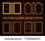 vector set of classical book... | Shutterstock .eps vector #715064647