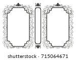 vector classical book cover.... | Shutterstock .eps vector #715064671