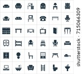vector illustration set of... | Shutterstock .eps vector #715066309