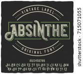 vintage label typeface named ... | Shutterstock .eps vector #715071055