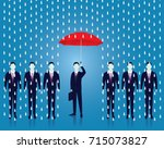 vector illustration. insurance... | Shutterstock .eps vector #715073827