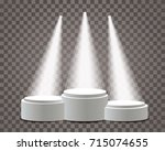 empty vector pedestals for... | Shutterstock .eps vector #715074655