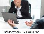 failed job interview or... | Shutterstock . vector #715081765