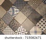 mixed decorative floor tiles | Shutterstock . vector #715082671