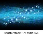 binary circuit future... | Shutterstock .eps vector #715085761