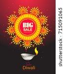 vector illustration of diwali... | Shutterstock .eps vector #715091065