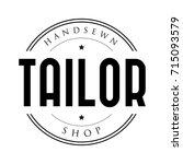 tailor shop vintage stamp logo | Shutterstock .eps vector #715093579