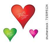 happy valentine's day | Shutterstock .eps vector #715095124