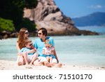 portrait of happy young family... | Shutterstock . vector #71510170