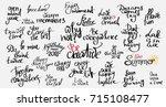 lettering photography overlay... | Shutterstock .eps vector #715108477