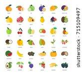 set vector illustration of... | Shutterstock .eps vector #715109497
