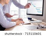 project management team... | Shutterstock . vector #715110601