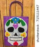 bag   dia de muertos | Shutterstock . vector #715111447