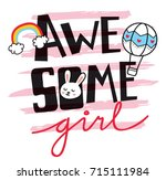 cute t shirt design with patches | Shutterstock .eps vector #715111984