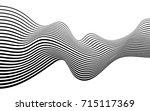 optical art abstract background ... | Shutterstock . vector #715117369
