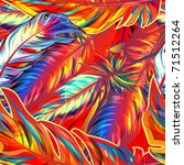 exotic feathers | Shutterstock .eps vector #71512264