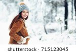 Small photo of Fashion young woman in the winter time