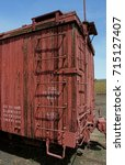 old wooden boxcar at chama  new ... | Shutterstock . vector #715127407