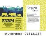 vector illustration of a farm... | Shutterstock .eps vector #715131157