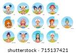 set of all zodiac signs ...   Shutterstock .eps vector #715137421