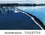 oil spill. environmental... | Shutterstock . vector #715137715