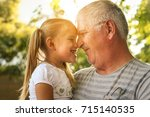love you so much my grandpa.... | Shutterstock . vector #715140535