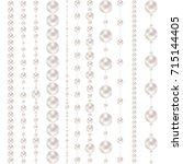 threads of pearls. beads.... | Shutterstock .eps vector #715144405