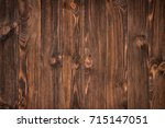 Dark Stained  Distressed Woode...