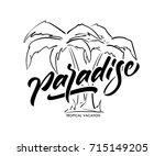 vector lettering typography...   Shutterstock .eps vector #715149205