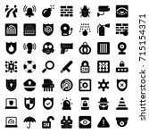 security icons   Shutterstock .eps vector #715154371
