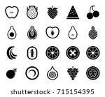 fruits icons | Shutterstock .eps vector #715154395