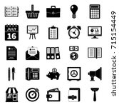 business icons set | Shutterstock .eps vector #715154449