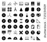 math icons   Shutterstock .eps vector #715154509