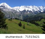 swiss beauty  meadows under...
