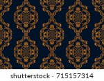 seamless floral ornament on... | Shutterstock .eps vector #715157314