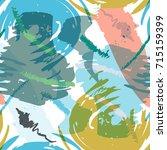brush strokes seamless pattern... | Shutterstock .eps vector #715159399