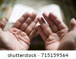 muslims pray at a mosque groom... | Shutterstock . vector #715159564