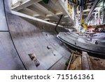 subway tunnel under...   Shutterstock . vector #715161361