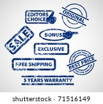 set of stamps for your eshop  ... | Shutterstock .eps vector #71516149