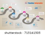 business road map timeline... | Shutterstock .eps vector #715161505