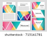 abstract vector layout... | Shutterstock .eps vector #715161781