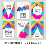 abstract vector layout... | Shutterstock .eps vector #715161787